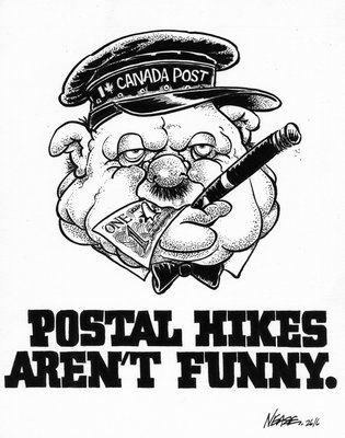 Steve Nease Editorial Cartoons: Postal Hikes Aren't Funny