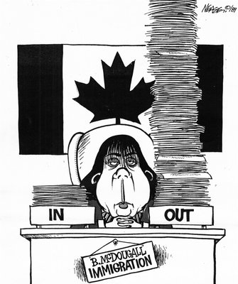 Steve Nease Editorial Cartoons: McDougall's Immigration Policy