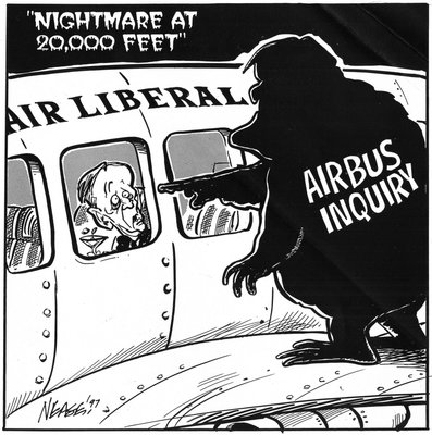 Steve Nease Editorial Cartoons: Nightmare at 20 000 Feet