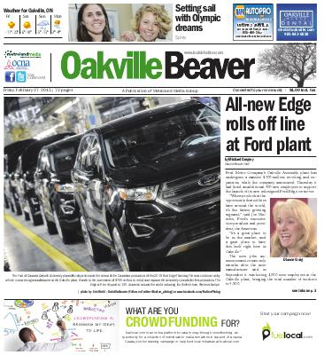 Oakville Beaver, 27 Feb 2015