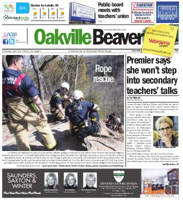 Oakville Beaver, 23 Apr 2015