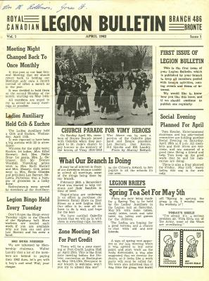 Legion Bulletin, April 1962