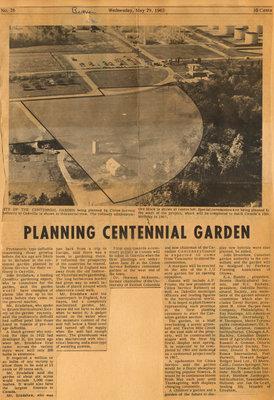 Planning Centennial Garden