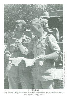 Maj. Peter R. Bingham and Maj. Chris Vokes (July 1943)