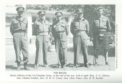 Senior officers of the 1st Canadian Army (1945)