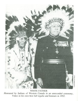 Chris Vokes honoured by Indians of Western Canada (1952)