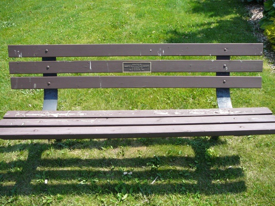 Bench and plaque donated by Bronte Horticultural Society, Chris Vokes Memorial Park