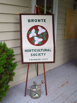 Bronte Horticultural Society banner