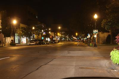 Downtown Oakville at Night