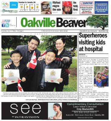 Oakville Beaver, 2 Jul 2015