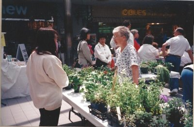 Plant sale at Hopedale Mall (1997)