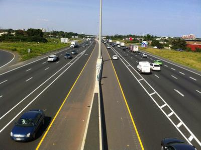 Looking over the QEW Oakville at 4th Line