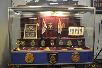 Display case inside Bronte Legion