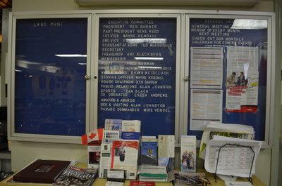 Bronte Legion bulletin board