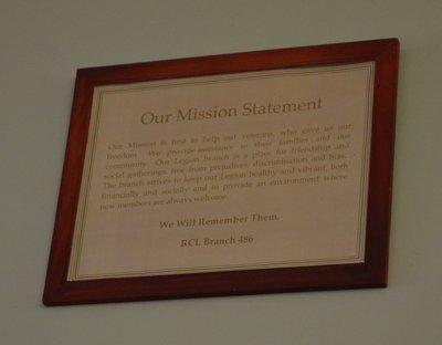 Bronte Legion Mission Statement