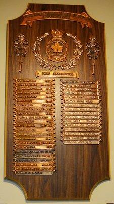 Bronte Legion Past Presidents plaque
