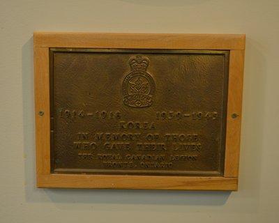 Korea plaque at Bronte Legion