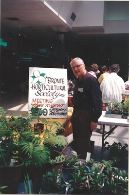 BHS Member at Hopedale Mall Plant Sale, 2007