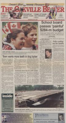 Oakville Beaver, 4 Jul 2001