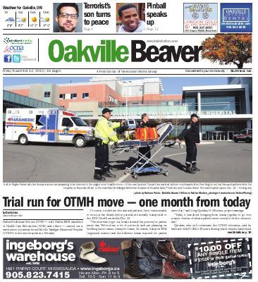 Oakville Beaver, 13 Nov 2015
