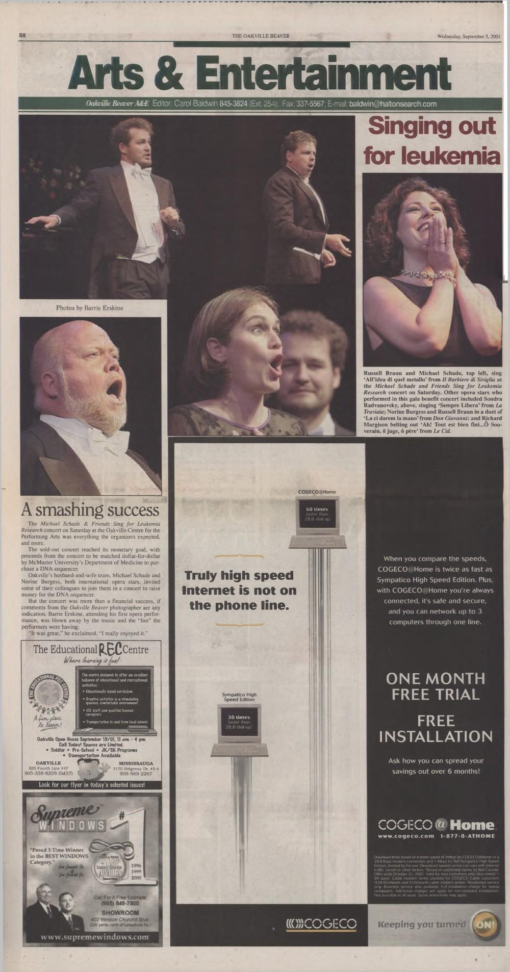 Oakville Beaver, 12 Sep 2001