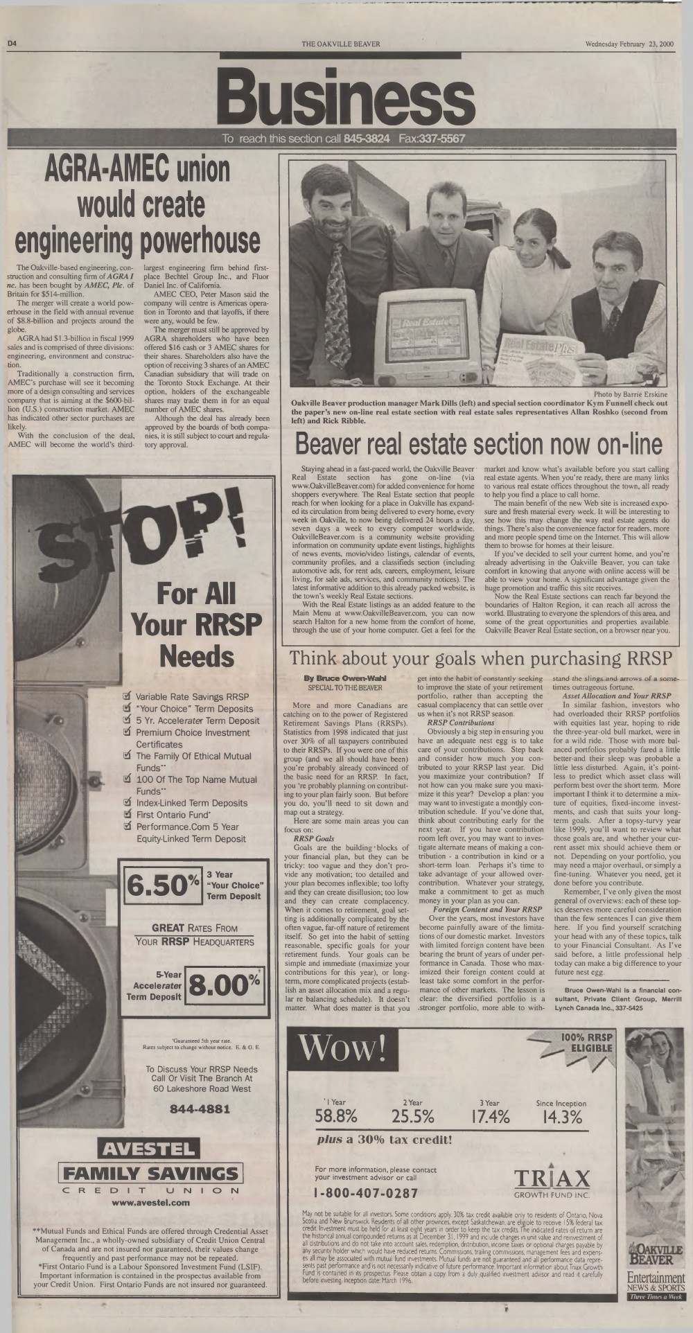 Oakville Beaver, 23 Feb 2000