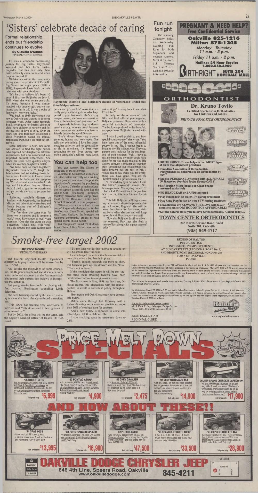 Oakville Beaver, 1 Mar 2000