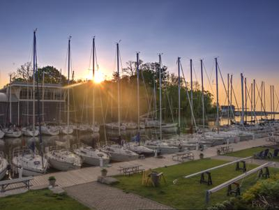 Sail Boats in Oakville Harbour