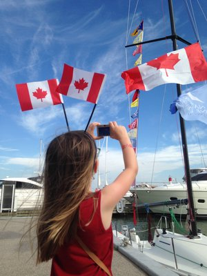 Capturing the Flag Canada Day Bronte Harbour