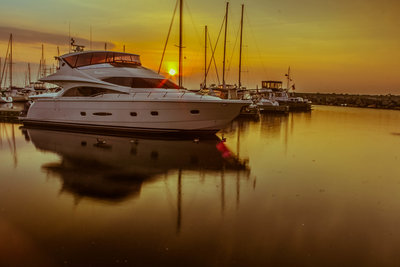 Golden Hour in Bronte Marina