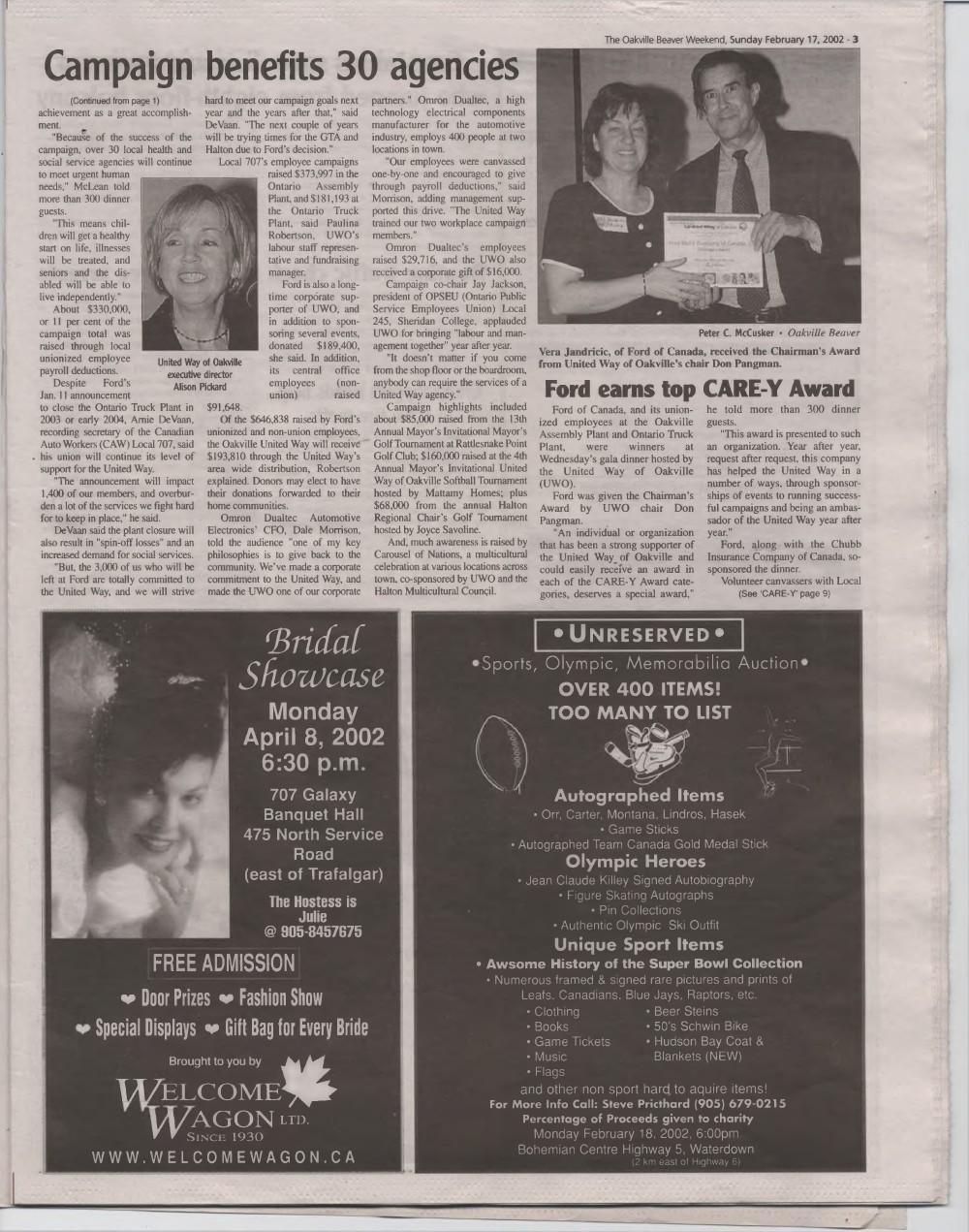 Oakville Beaver, 17 Feb 2002