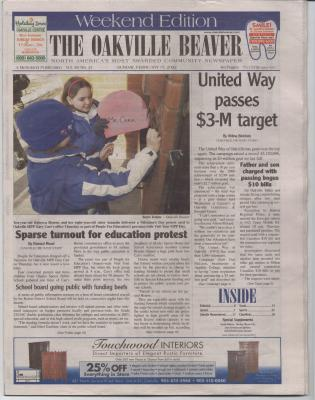 Oakville Beaver, 17 Feb 2002