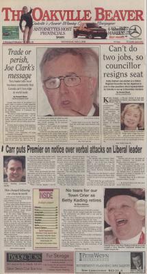 Oakville Beaver, 3 May 2000