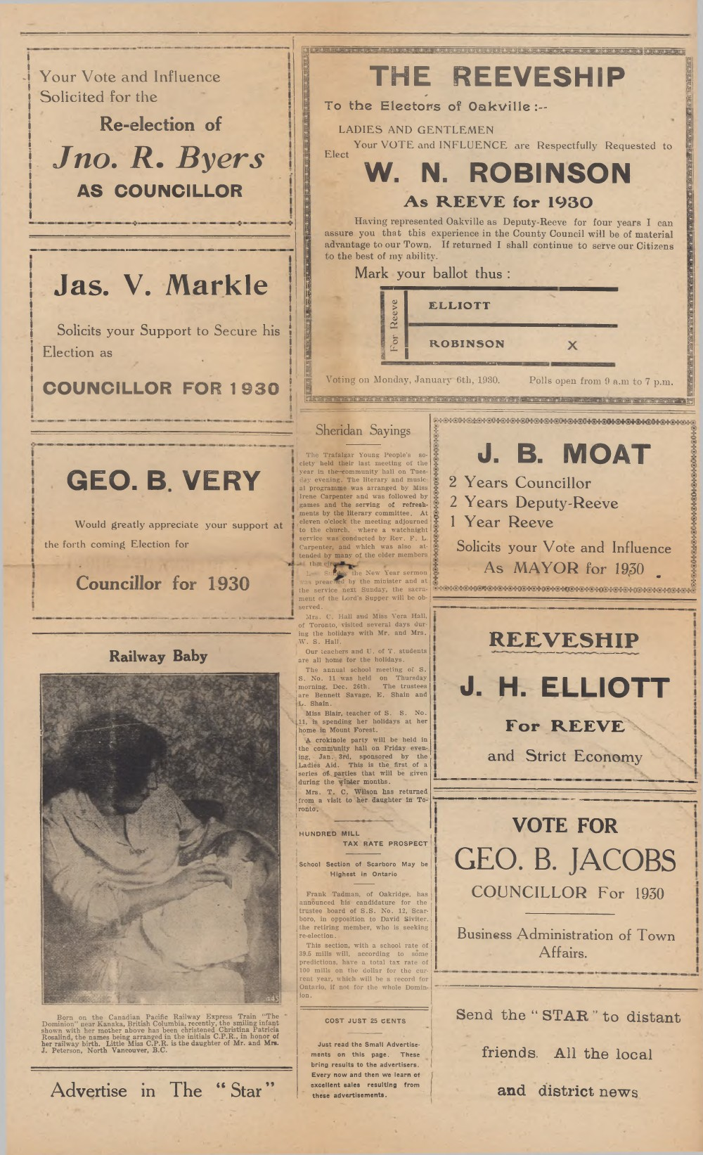 Oakville Star & Independent (Oakville, ON), 3 Jan 1930