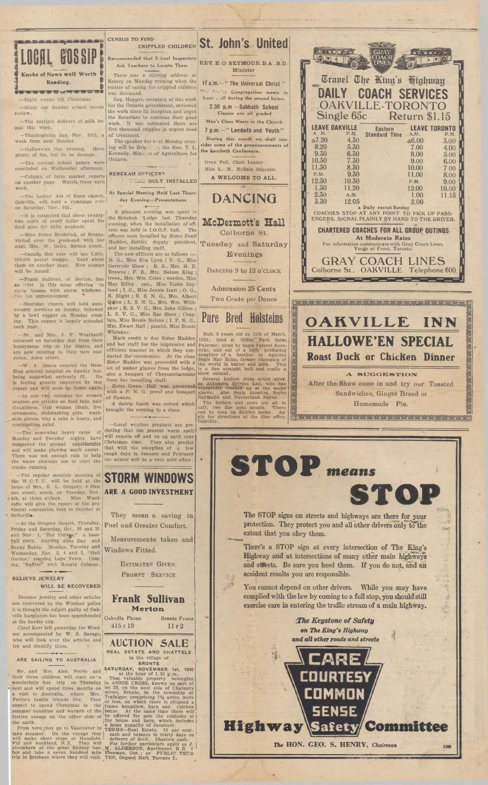 Oakville Star & Independent (Oakville, ON), 31 Oct 1930
