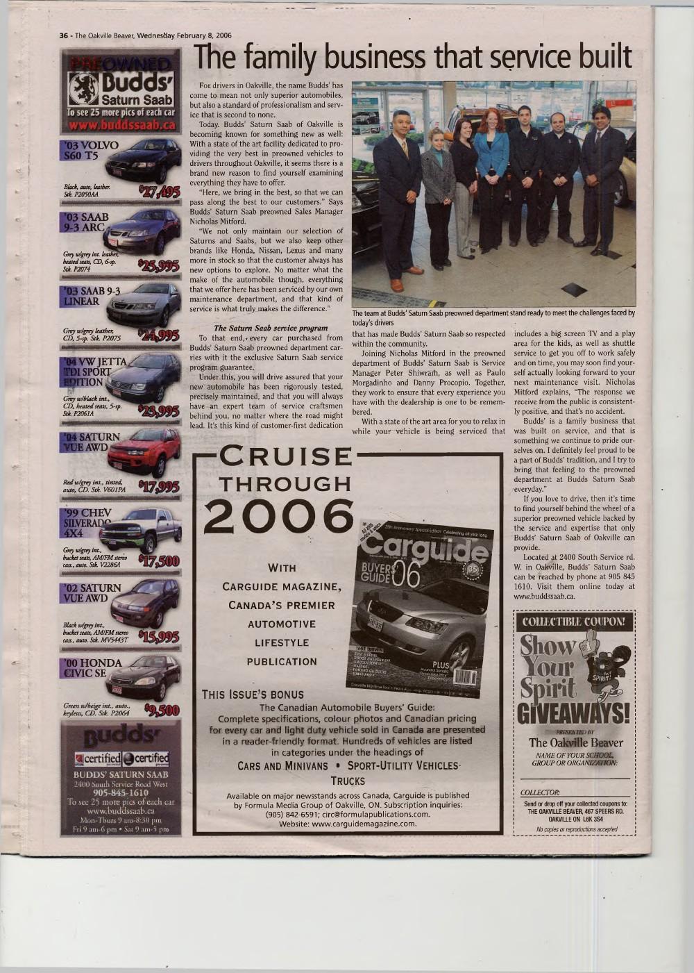Oakville Beaver, 8 Feb 2006