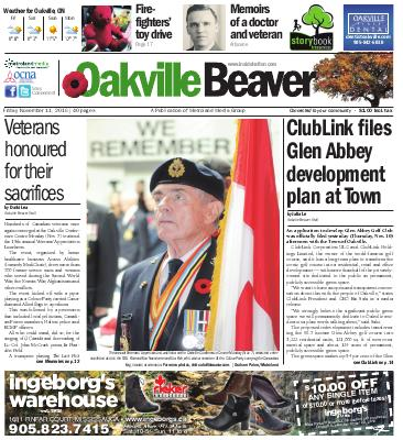Oakville Beaver, 11 Nov 2016