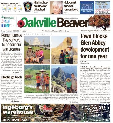 Oakville Beaver, 4 Nov 2016
