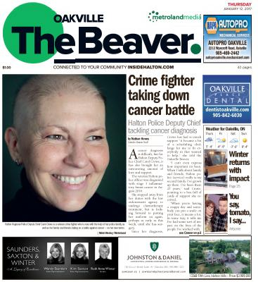 Oakville Beaver, 12 Jan 2017