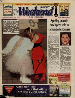 Oakville Beaver, 29 Oct 2000