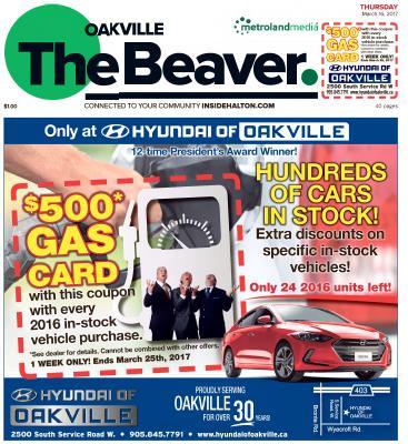 Oakville Beaver, 16 Mar 2017
