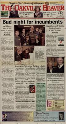 Oakville Beaver, 15 Nov 2000