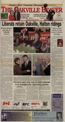 Oakville Beaver, 29 Nov 2000