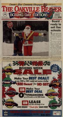 Oakville Beaver, 26 Dec 2000