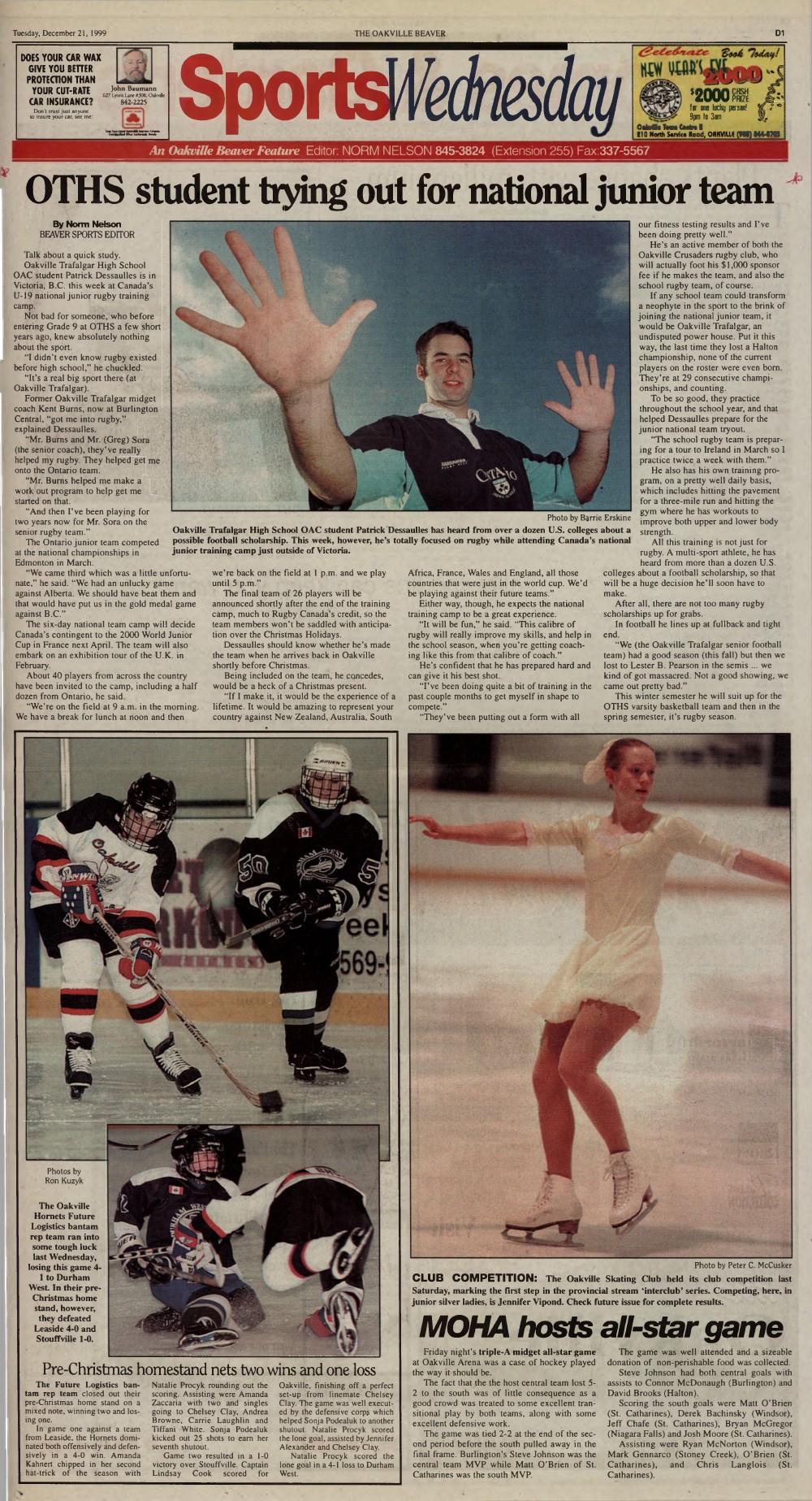 Oakville Beaver, 21 Dec 1999