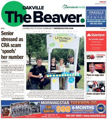 Oakville Beaver, 18 Aug 2017