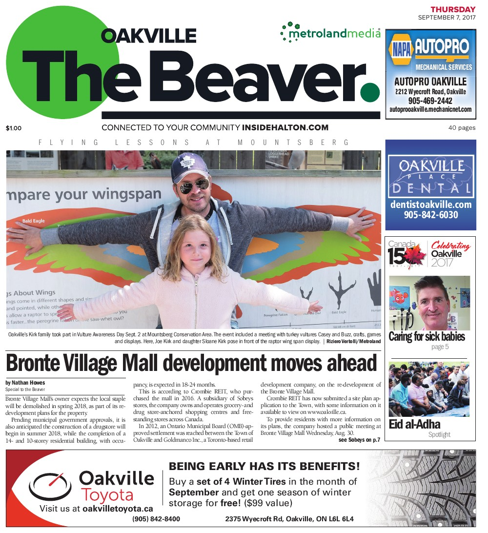 Oakville Beaver, 7 Sep 2017