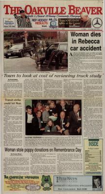Oakville Beaver, 17 Nov 1999