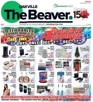 Oakville Beaver, 8 Dec 2017