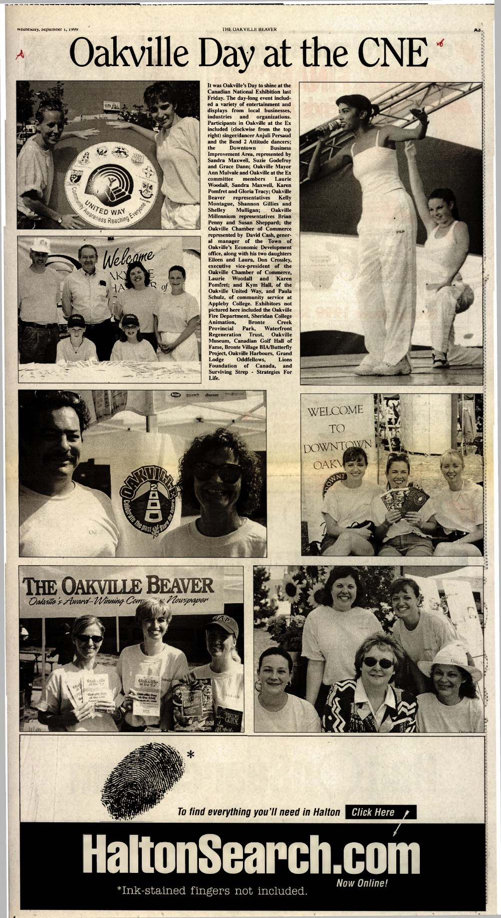Oakville Beaver, 1 Sep 1999